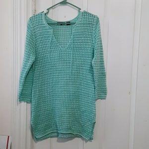 jeanne pierre vneck knit top